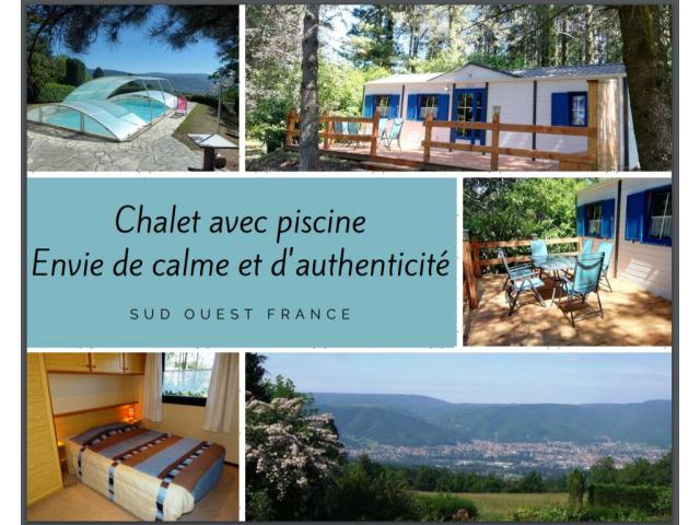 photo de ENVIE de CALME: chalet avec PISCINE, SO France