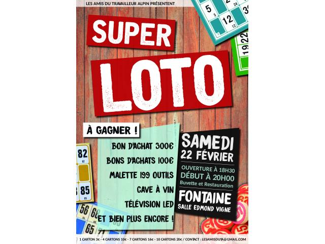 photo de SUPER LOTO - 22 Février - Fontaine