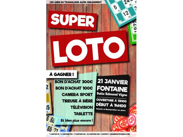 photo de Super Loto FONTAINE 21 Janvier