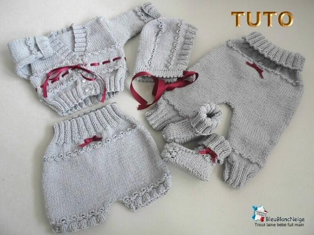 photo de Tuto, tricot bebe, tricot bb, trousseau layette, modele fait main