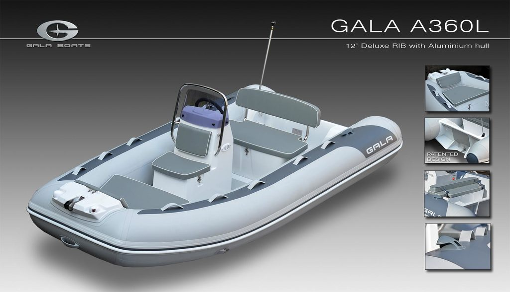 photo de GALA BOATS A360 L   MERCURY 25 CV 4 TEMPS