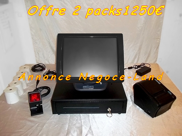 photo de 2 Pack caisse enregistreuse tactile SAGA Norme 2020